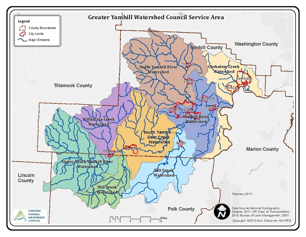 Greater Yamhill Watershed on mcminnville map, oregon map, carlton or map, willamette valley county map, durham county map, kanabec county map, lincoln county map, linn county map, dunthorpe map, cowlitz county map, weston county map, clackamas county map, albany county map, columbia county map, dayton county map, portland county map, ashland county map, eugene county map, wallowa county map, marion county map,